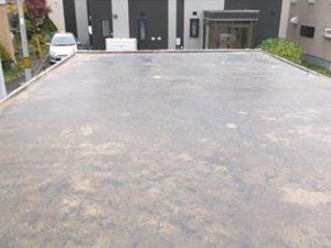 車庫屋根の補修 下地調整