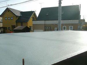 車庫屋根の補修の仕上がり